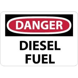 NMC 7x10 Rigid Plastic Danger Diesel Fuel Sign D427R