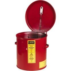 Justrite?� 2 Gallon Capacity, 24-Gauge Coated Steel Body, Red Dip