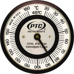 PTC Instruments 20 to 180 Degrees C, 2 Inch Dial Diameter, Pipe S