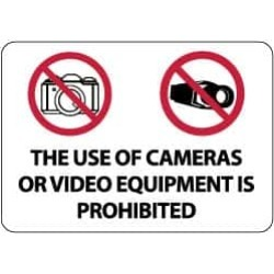 NMC The Use of Cameras or Video Equipment Is Prohibited, 20 Inch