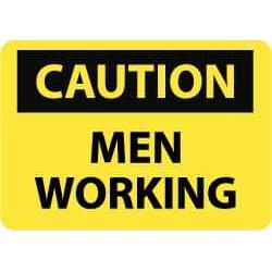 NMC 10x14ps Vinyl Men Working Sign C69PB