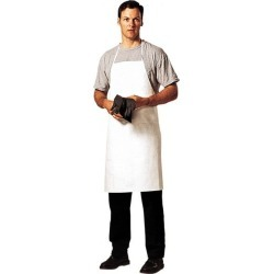 Dupont 36 Inch Long x 27 Inch Wide, Disposable Bib Apron White, T