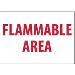 NMC 7x10 Rigid Plastic Flammable Area Sign M426R