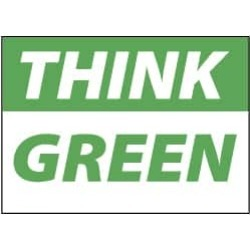 NMC 10x14 Plastic Think Green Sign TS138RB