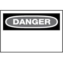 "NMC 20""x28"" Rigid Plastic Xtraspace Danger Pln Sign D1RD"