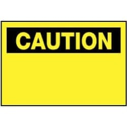 "NMC 20""x28"" Rigid Plastic Xtrspace Caution Pln Sign C1RD"