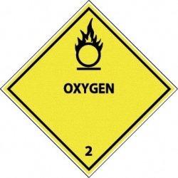 NMC Oxygen P/s Vinyl 25/pk Dot Shipping Label DL7AP