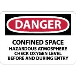 NMC 7x10 Rigid Plastic Danger Conf Space Sign D246R