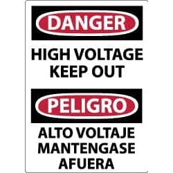 NMC Danger High Voltage Ke Danger Sign ESD139AB