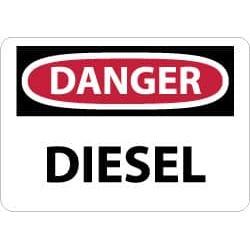 NMC 7x10rigid Plastic Danger Diesel Sign D127R