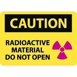 "NMC Radioactive Mat Do Not 10x14""vinyl Caution Sign C590PB"