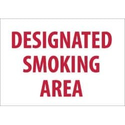 "NMC 7""x10"" Rigid Plastic Designated Smoking Sign M701R"