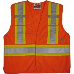 Viking Hk&lp Hi-vis Org 2/3xl Tear Away Vest U6135O-2XL/3XL found on Bargain Bro Philippines from mscdirect.com for $24.43