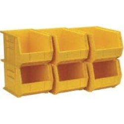 Quantum Storage 50 Lbs. Load Capacity, Yellow Polypropylene / Pol