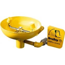 Bradley Wall Mount, Plastic Bowl, Eyewash Station 1/2 Inch Inlet,
