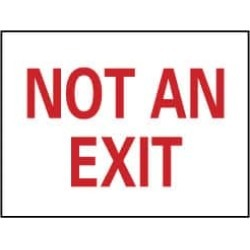 NMC 10x14 Aluminum Not An Exit Sign M27AB