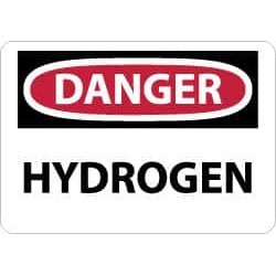 NMC 7x10 Rigid Plastic Danger Hydrogen Sign D447R