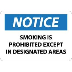 NMC 7x10 Rigid Plastic Smoking Prohibited Sign N155R