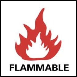 "NMC 7x7""rigid Plastic Flammable Sign S12R"
