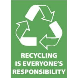 NMC 10x14 Plastic Sign Go Green Recycle Is Every ENV34RB