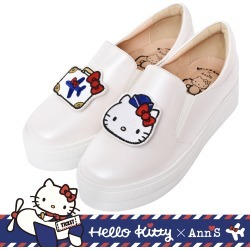 代購: HELLO KITTY X Ann'S 一起去旅行可隨意交換貼布刺繡厚底懶人鞋 found on Bargain Bro Philippines from mydress for $90.87