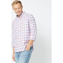 CLASSIC FIT LONG SLEEVE PLAID OXFORD SHIRT