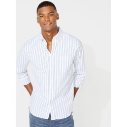 CLASSIC FIT LONG SLEEVE STRIPED OXFORD SHIRT