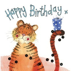 Alex Clark Sparkle Card Tiger and Gift found on Bargain Bro UK from naylors