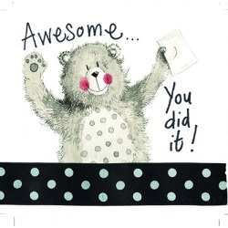 Alex Clark Little Sparkle Card Awesome Bear found on Bargain Bro UK from naylors