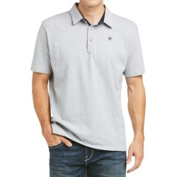 Ariat Mens Medal Short Sleeved Polo Heather Grey found on Bargain Bro UK from naylors