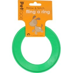 Petface Fling-a-ring Small Green found on Bargain Bro UK from naylors