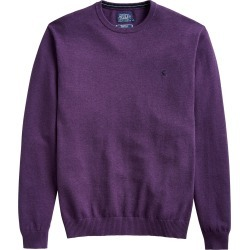 Joules Mens Jarvis Crew Neck Jumper Purple Marl found on Bargain Bro UK from naylors