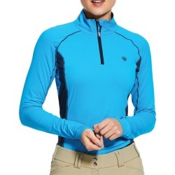Ariat Ladies Tri Factor 1/4 Zip Baselayer Nautilus found on Bargain Bro UK from naylors