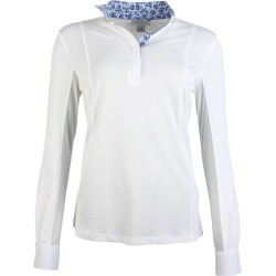 Ariat Ladies Sunstopper Pro Show Shirt White Mesh Stripe found on Bargain Bro UK from naylors