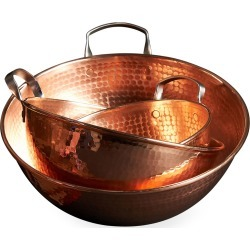 Copper Mixing Bowls, Set of 3