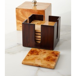 Burl Veneer Luxe Coaster Box Set found on Bargain Bro Philippines from neimanmarcus.com for $370.00