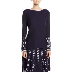 Petite Falling Star Top w/ Drama Sleeve found on Bargain Bro Philippines from neimanmarcus.com for $115.00