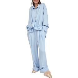 Sizeless Pajama Set, Blue found on Bargain Bro India from neimanmarcus.com for $245.00