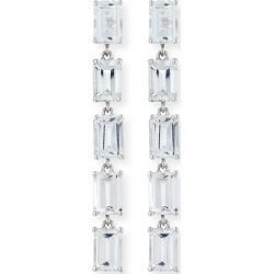 Bloom 14k White Gold 5 Emerald-Cut Drop Earrings, White found on Bargain Bro Philippines from neimanmarcus.com for $880.00