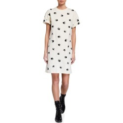 Slouchy Swallow-Print T-Shirt Dress found on MODAPINS from neimanmarcus.com for USD $295.00