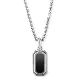 Men's 27mm Deco Amulet Enhancer with Onyx Inset