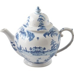 Country Estate Delft Blue Teapot Main House found on Bargain Bro Philippines from neimanmarcus.com for $175.00