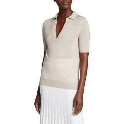 Frank Cashmere-Silk Polo Top found on MODAPINS from neimanmarcus.com for USD $550.00