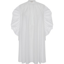 Ruched-Sleeve Poplin Mini Dress found on MODAPINS from neimanmarcus.com for USD $1480.00