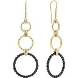 18k Gold Caviar Drop Earrings w/ Black Ceramic found on Bargain Bro from neimanmarcus.com for USD $1,060.20