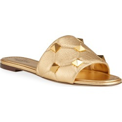 Roman Stud Metallic Slide Sandals found on Bargain Bro India from neimanmarcus.com for $890.00