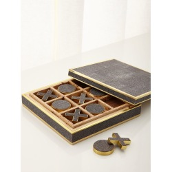 Chocolate Shagreen Tic Tac Toe found on Bargain Bro India from neimanmarcus.com for $695.00