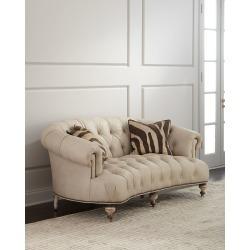 Xantha Tufted Leather Sofa 71
