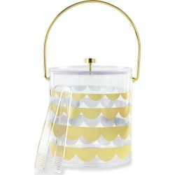 gold scallop acrylic ice bucket found on Bargain Bro Philippines from neimanmarcus.com for $58.00