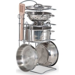 Let's Play House Stainless Steel Pot & Pan Play Set found on Bargain Bro India from neimanmarcus.com for $30.00